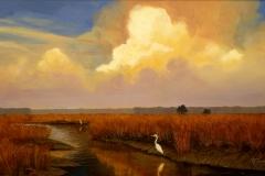 Egrets, 22x28